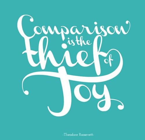 Don't let it steal your joy.